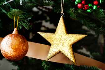 yellow star and orange bauble